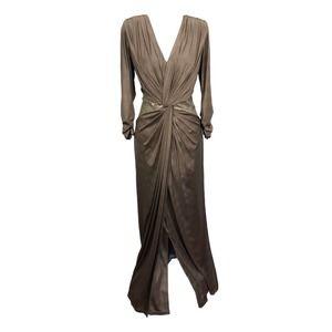 Tadashi Shoji Twist Front Dress Medium Sequin Gown